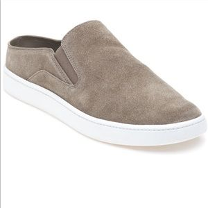 Vince Tan Suede Slip On Fuzzy Lined Shoes
